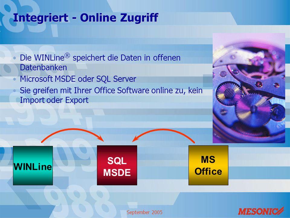 Integriert - Online Zugriff