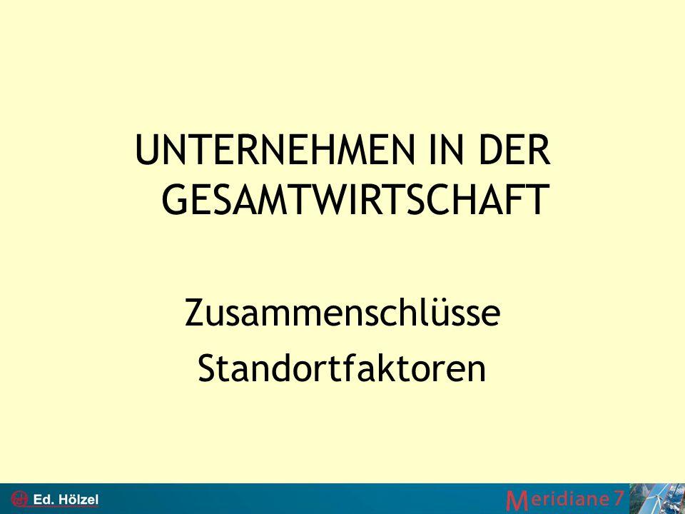 UNTERNEHMEN IN DER GESAMTWIRTSCHAFT