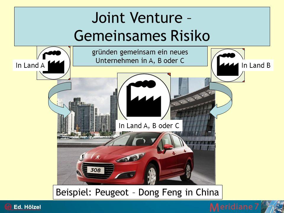 Joint Venture – Gemeinsames Risiko