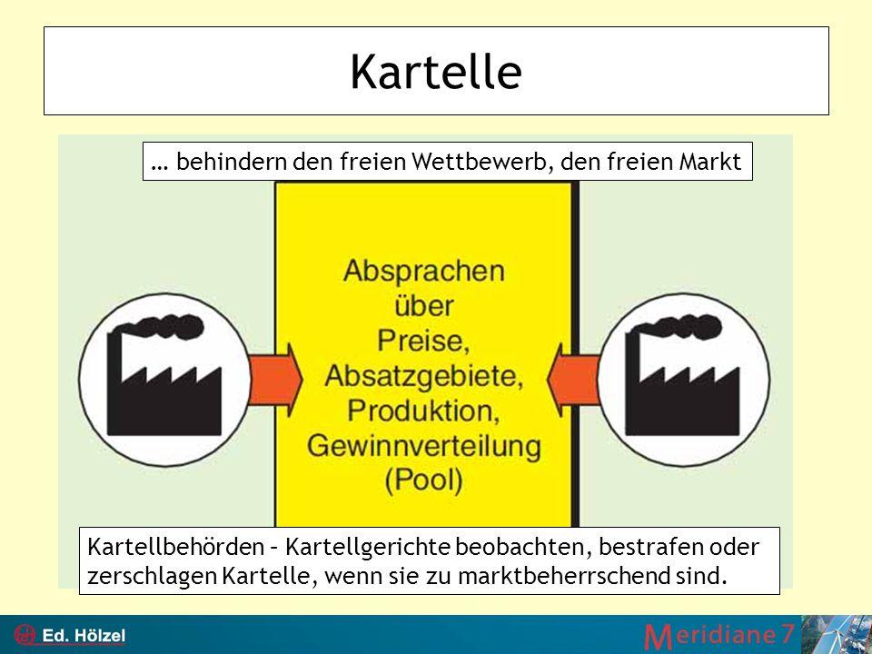 Kartelle … behindern den freien Wettbewerb, den freien Markt