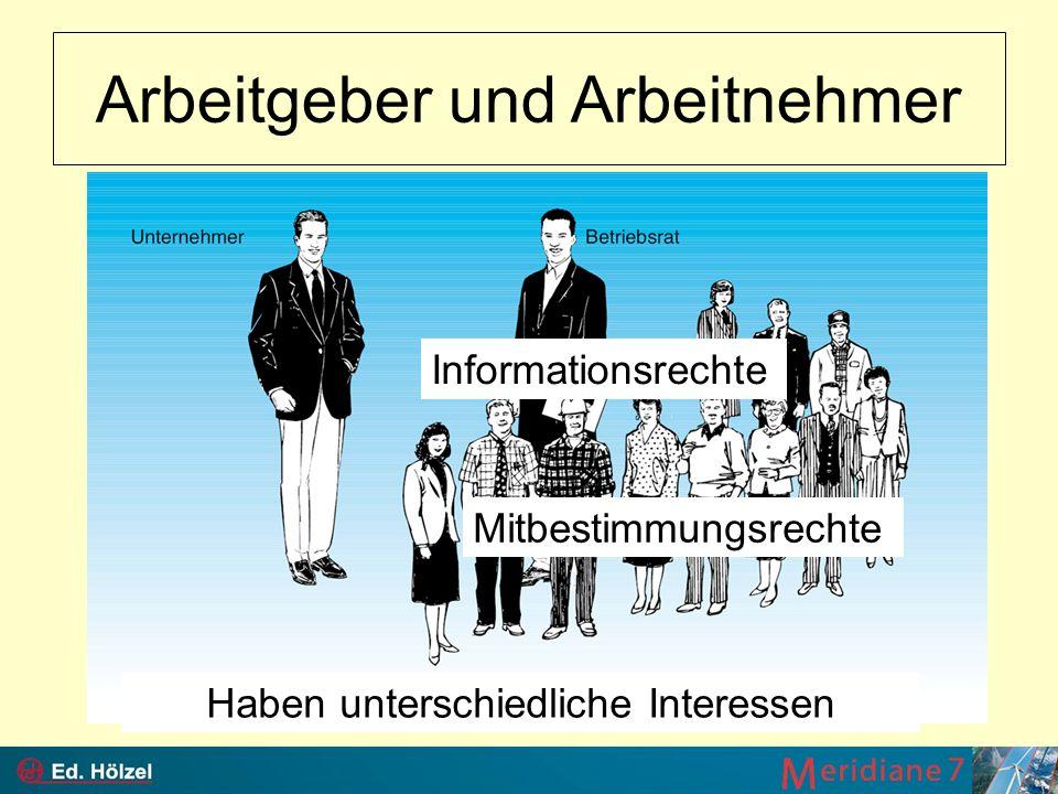Arbeitgeber und Arbeitnehmer