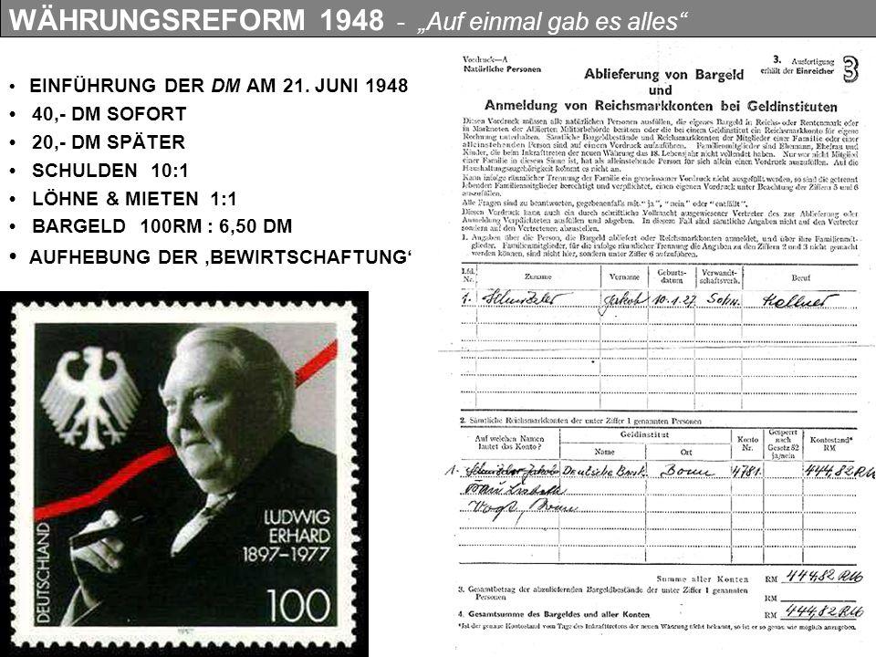"""WÄHRUNGSREFORM 1948 - """"Auf einmal gab es alles"""