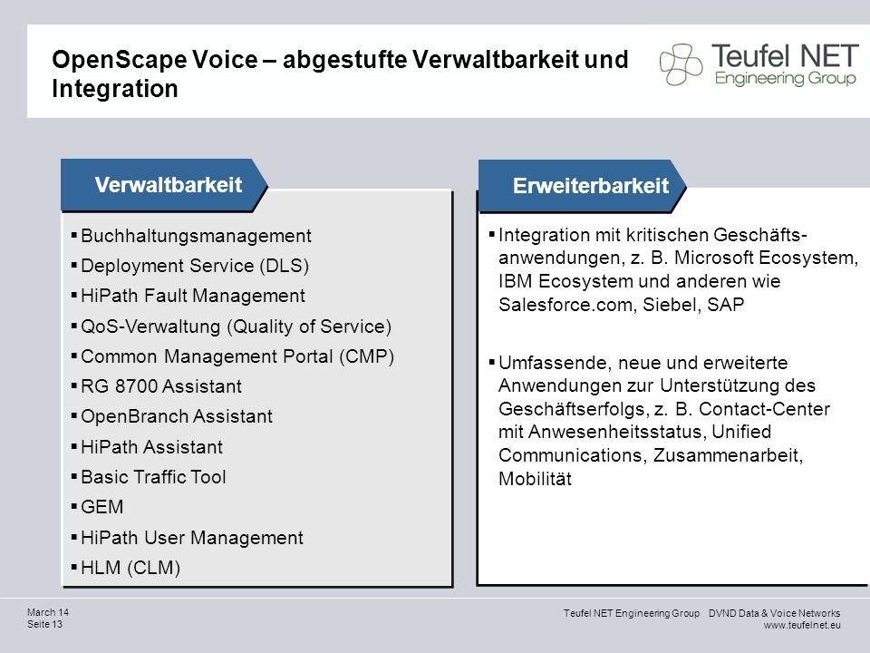 OpenScape Voice – abgestufte Verwaltbarkeit und Integration