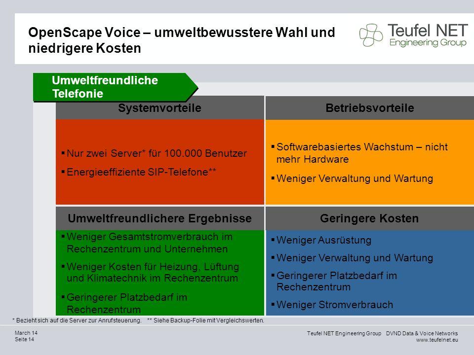 OpenScape Voice – umweltbewusstere Wahl und niedrigere Kosten