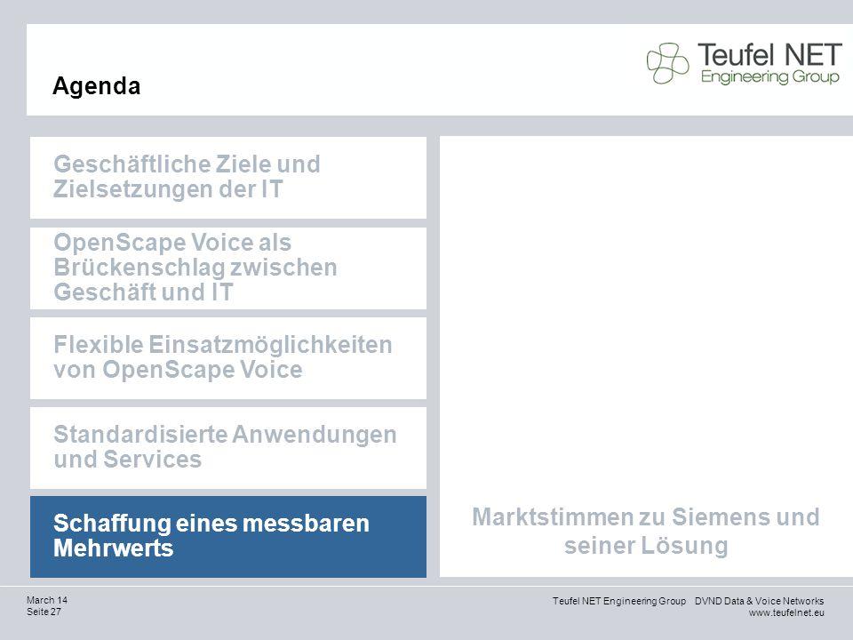 Marktstimmen zu Siemens und seiner Lösung