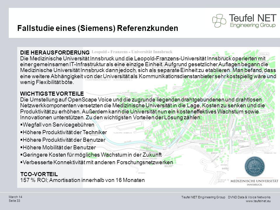 Fallstudie eines (Siemens) Referenzkunden