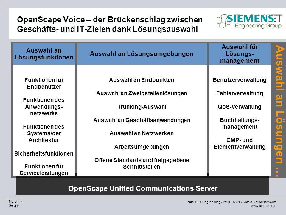 OpenScape Voice – der Brückenschlag zwischen Geschäfts- und IT-Zielen dank Lösungsauswahl