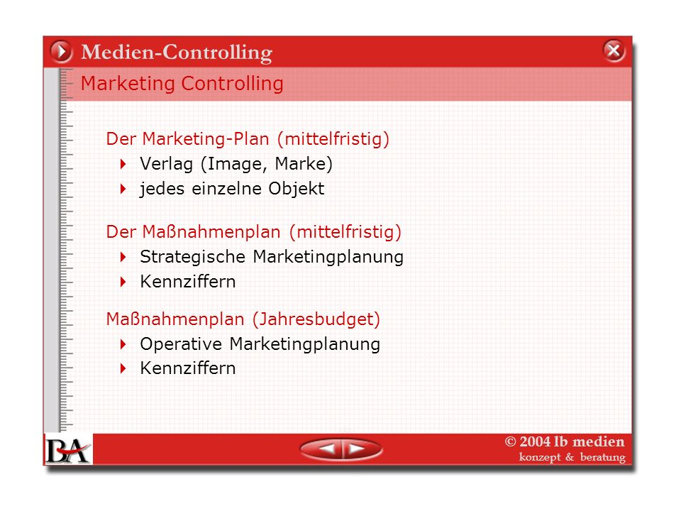 Medien-Controlling Marketing Controlling