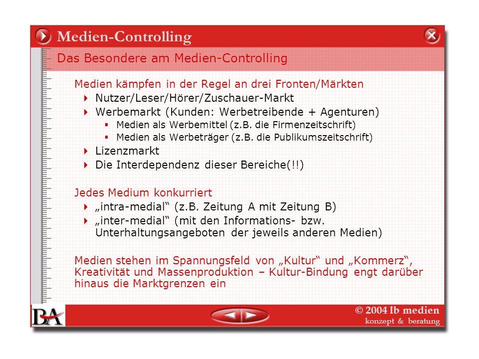 Medien-Controlling Das Besondere am Medien-Controlling