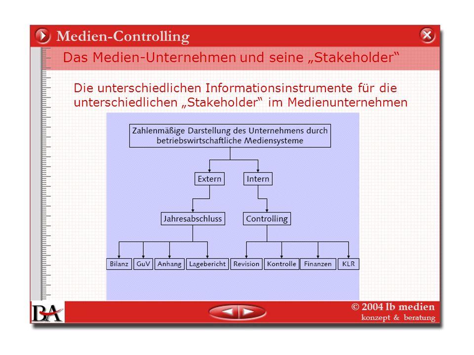 """Medien-Controlling Das Medien-Unternehmen und seine """"Stakeholder"""