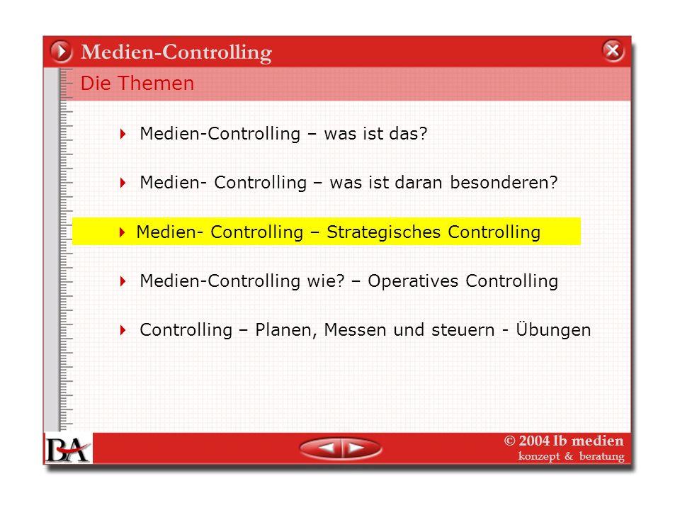 Medien-Controlling Die Themen Medien-Controlling – was ist das