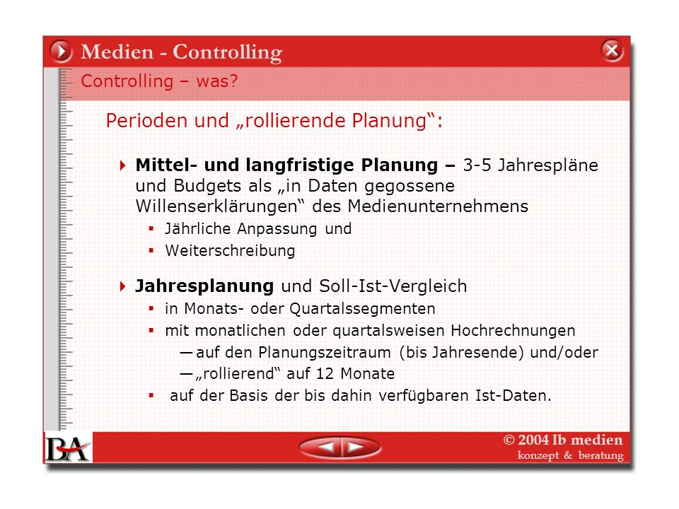 Medien - Controlling Controlling – was