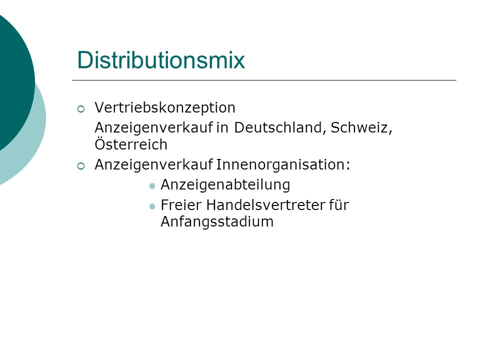 Distributionsmix Vertriebskonzeption