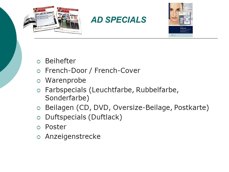 AD SPECIALS Beihefter French-Door / French-Cover Warenprobe