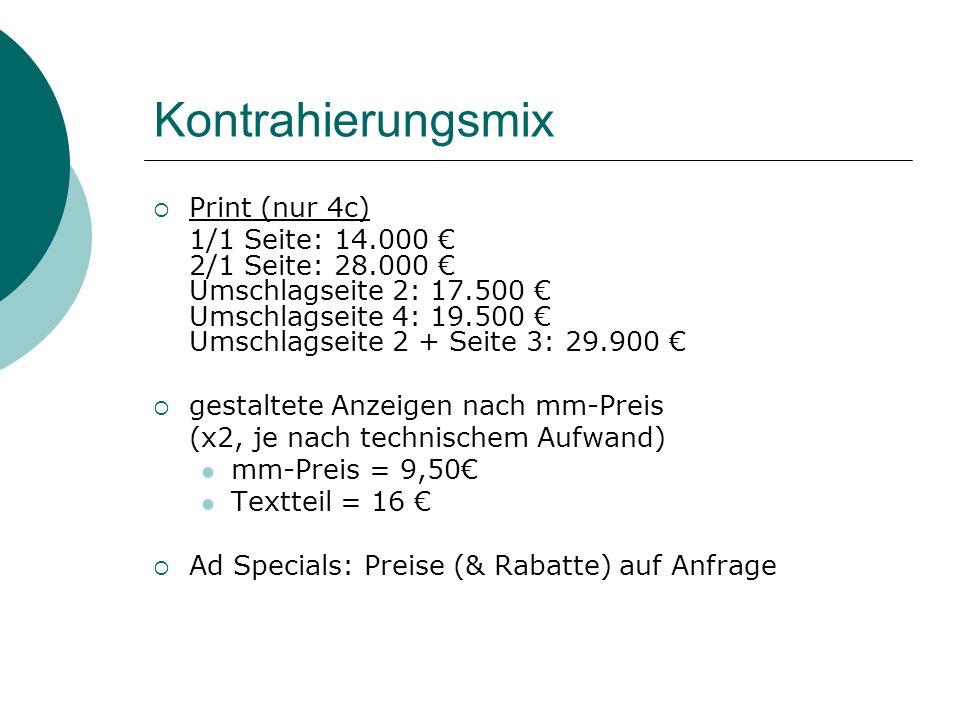 Kontrahierungsmix Print (nur 4c)