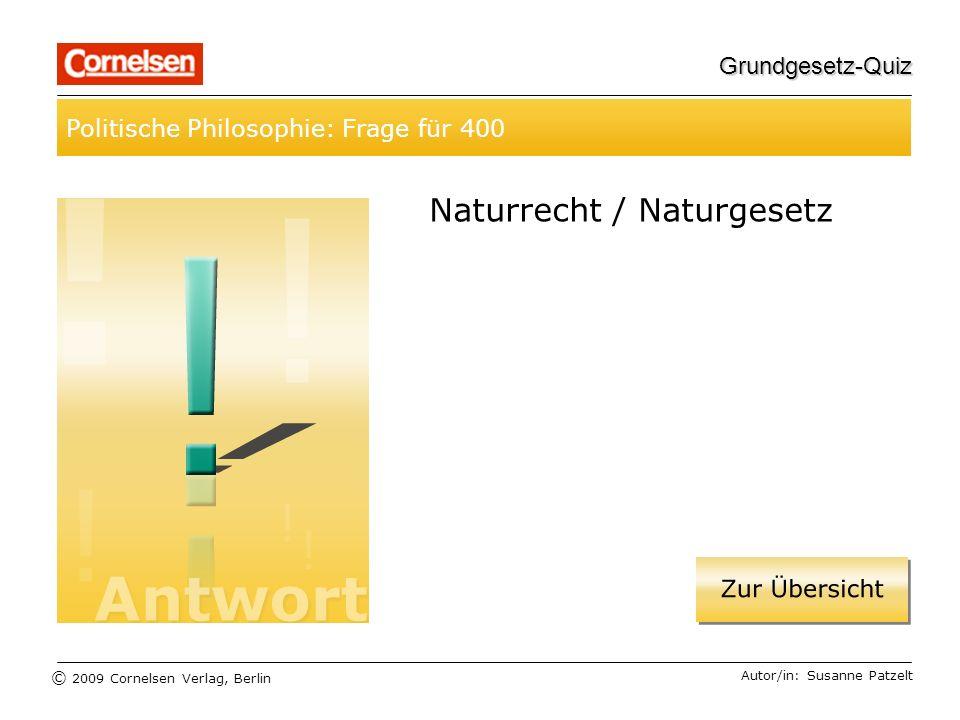 Naturrecht / Naturgesetz