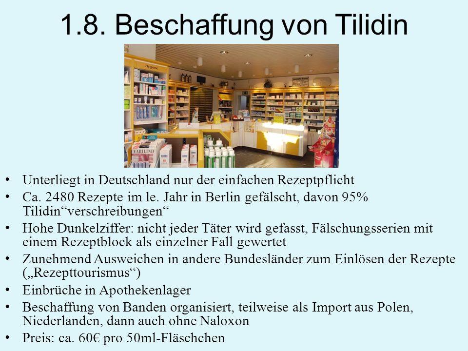 1.8. Beschaffung von Tilidin