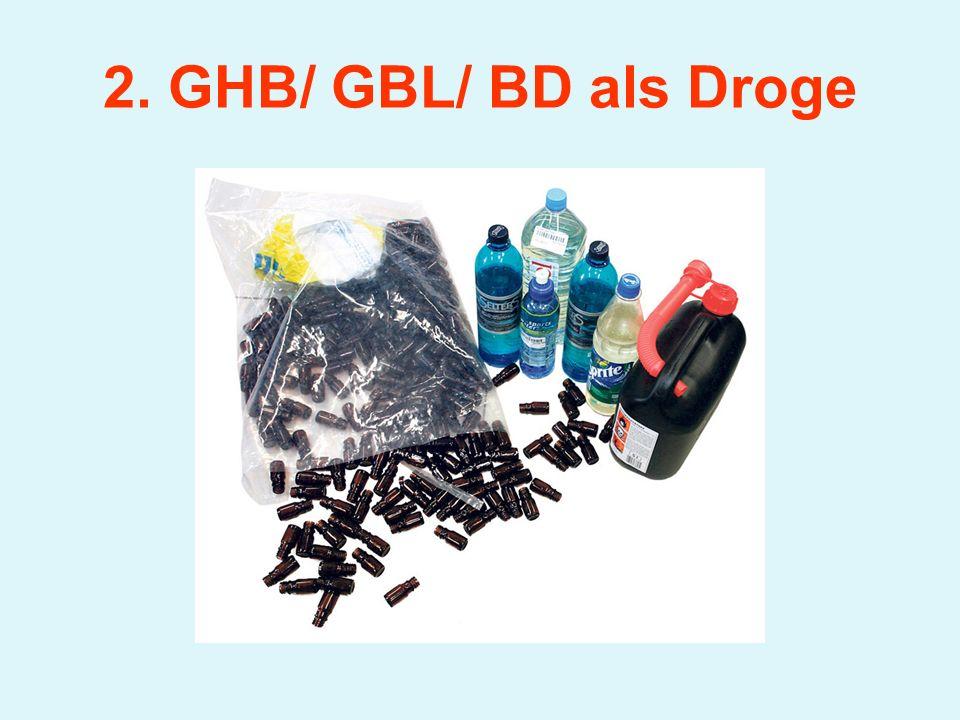 2. GHB/ GBL/ BD als Droge