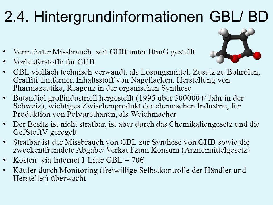 2.4. Hintergrundinformationen GBL/ BD