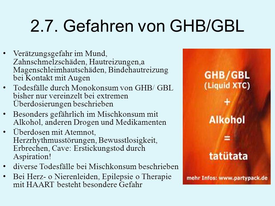2.7. Gefahren von GHB/GBL