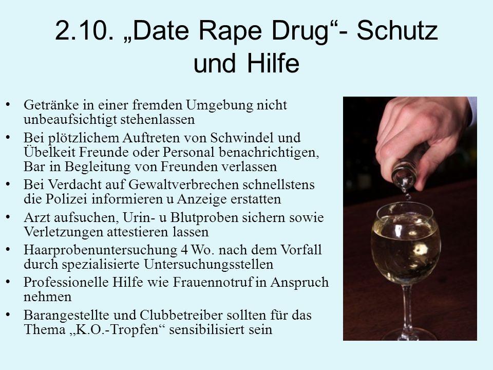 """2.10. """"Date Rape Drug - Schutz und Hilfe"""