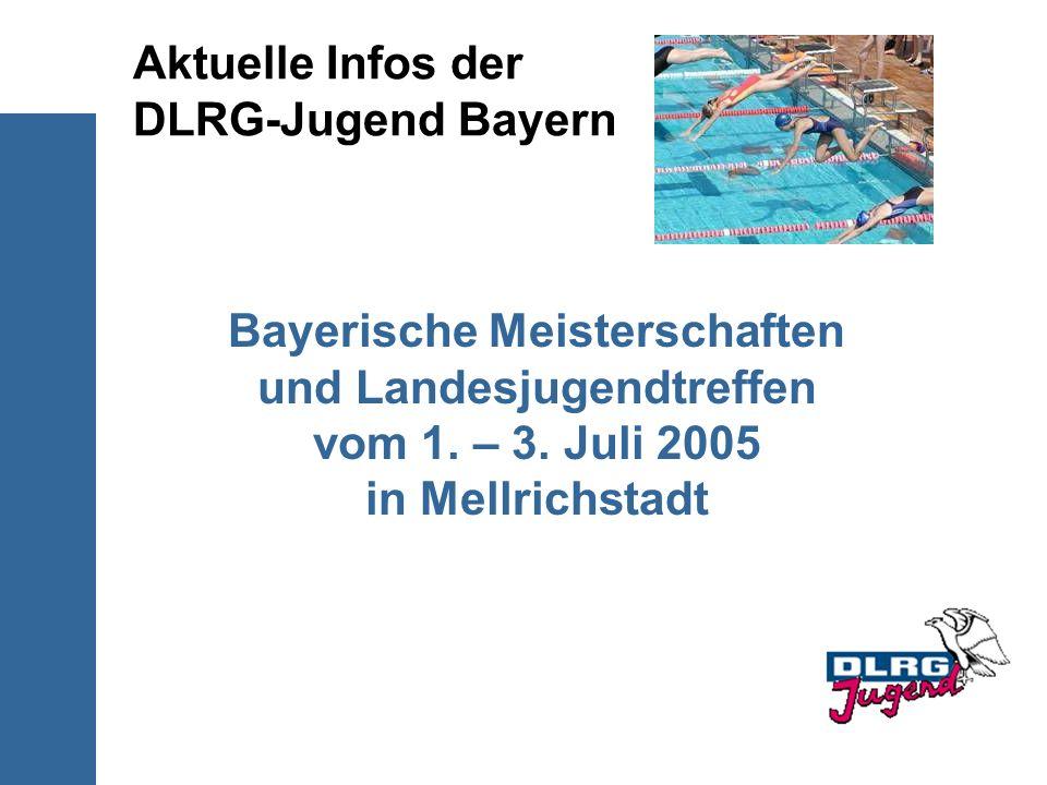 Aktuelle Infos der DLRG-Jugend Bayern