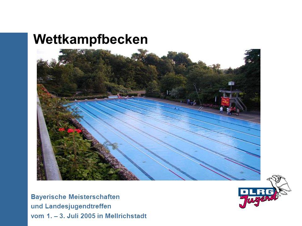 Wettkampfbecken Bayerische Meisterschaften und Landesjugendtreffen