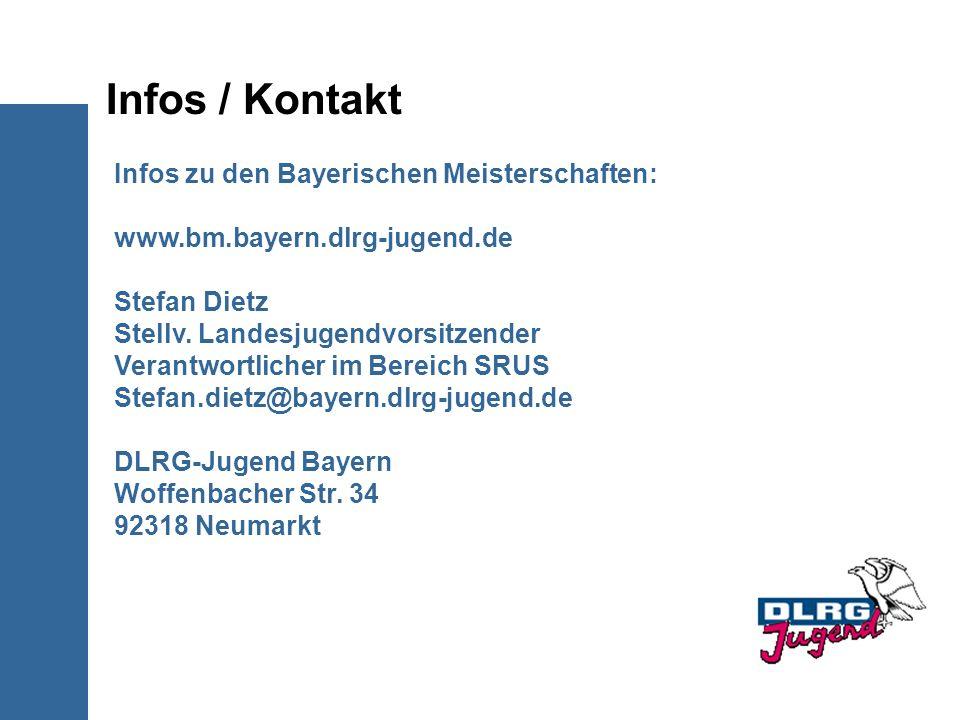 Infos / Kontakt Infos zu den Bayerischen Meisterschaften:
