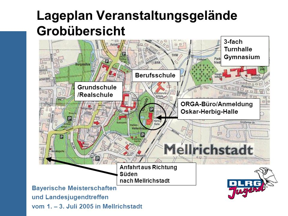 Lageplan Veranstaltungsgelände Grobübersicht