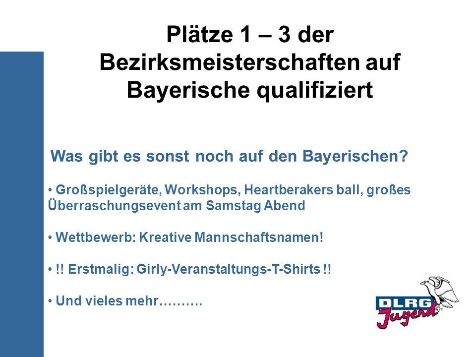 Plätze 1 – 3 der Bezirksmeisterschaften auf Bayerische qualifiziert
