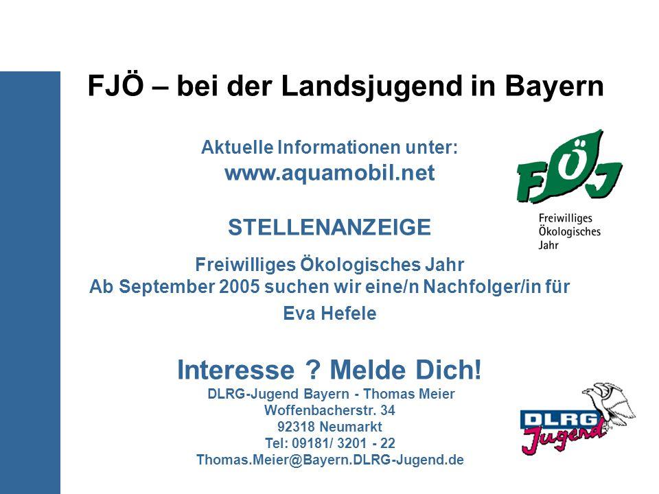 FJÖ – bei der Landsjugend in Bayern