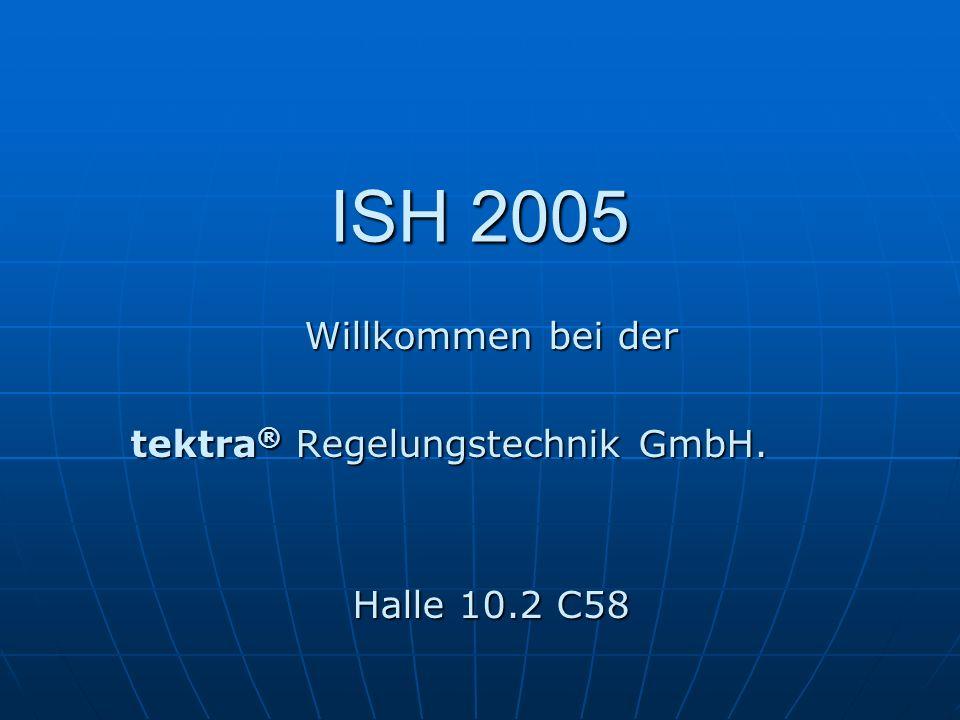 Willkommen bei der tektra® Regelungstechnik GmbH. Halle 10.2 C58
