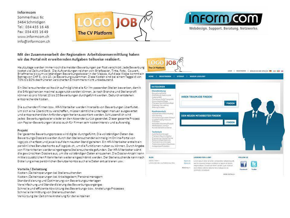 Mit der Zusammenarbeit der Regionalem Arbeitslosenvermittlung haben