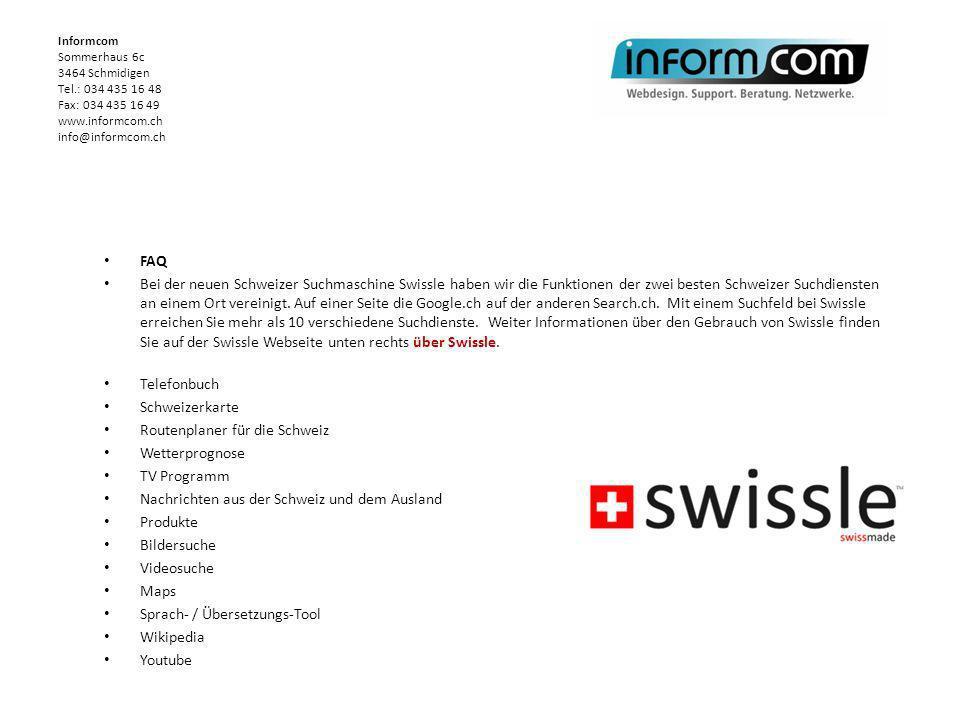 Routenplaner für die Schweiz Wetterprognose TV Programm
