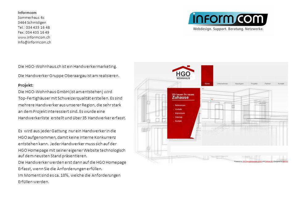 Informcom. Sommerhaus 6c. 3464 Schmidigen Tel