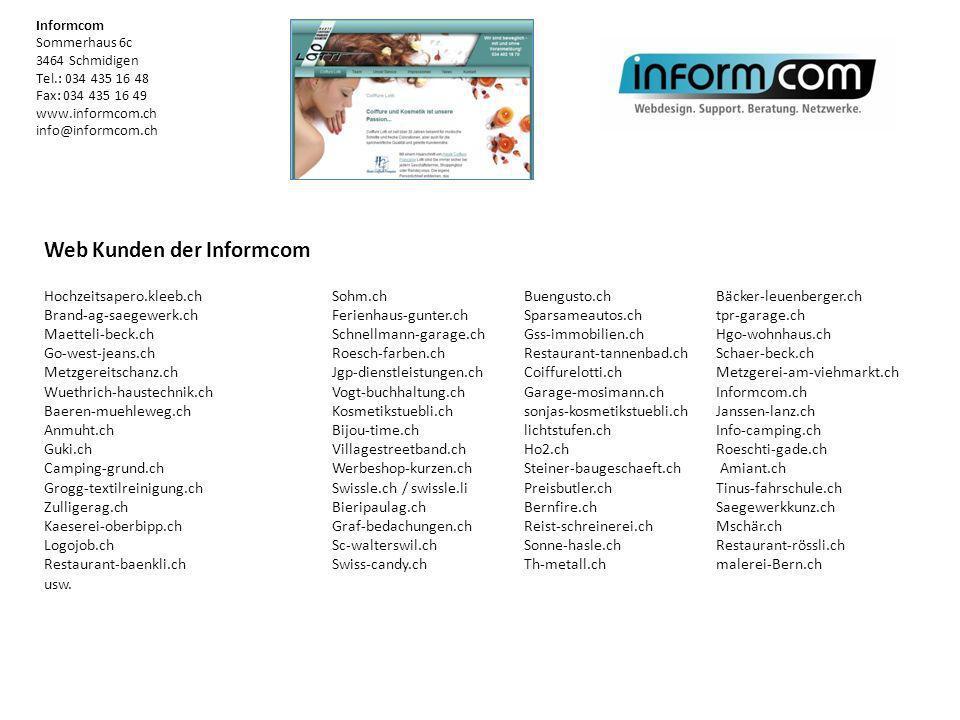 Web Kunden der Informcom