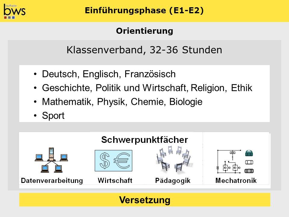 Einführungsphase (E1-E2)