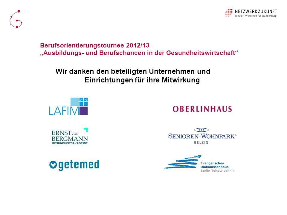 Berufsorientierungstournee 2012/13