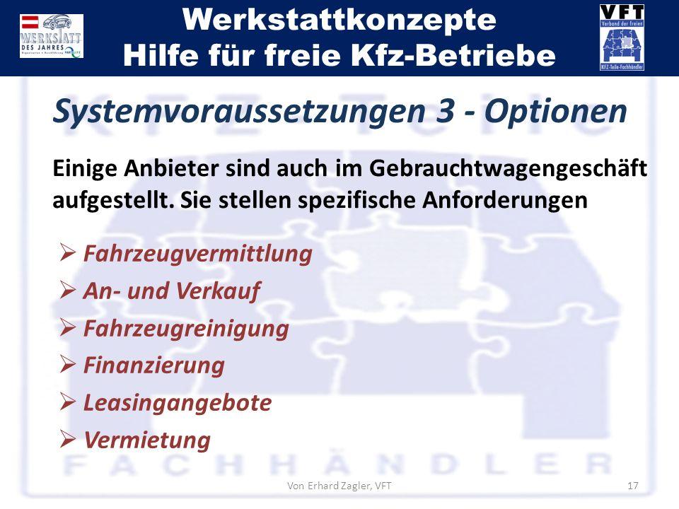 Systemvoraussetzungen 3 - Optionen