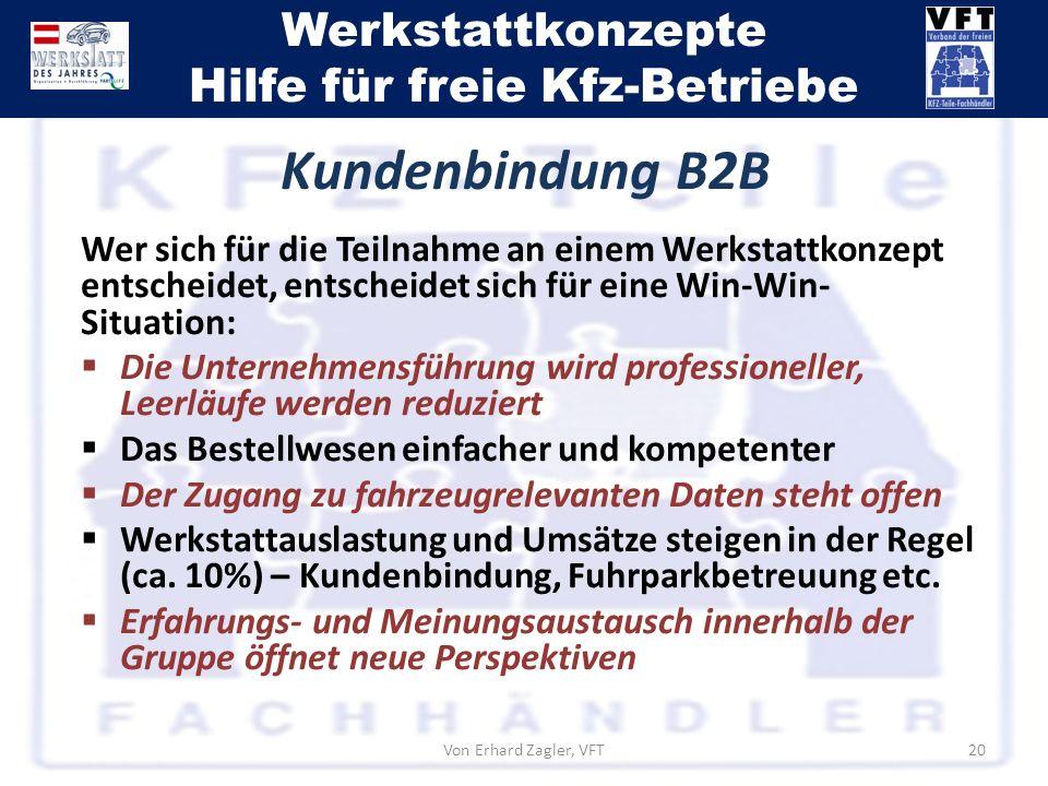 Kundenbindung B2B Wer sich für die Teilnahme an einem Werkstattkonzept entscheidet, entscheidet sich für eine Win-Win-Situation: