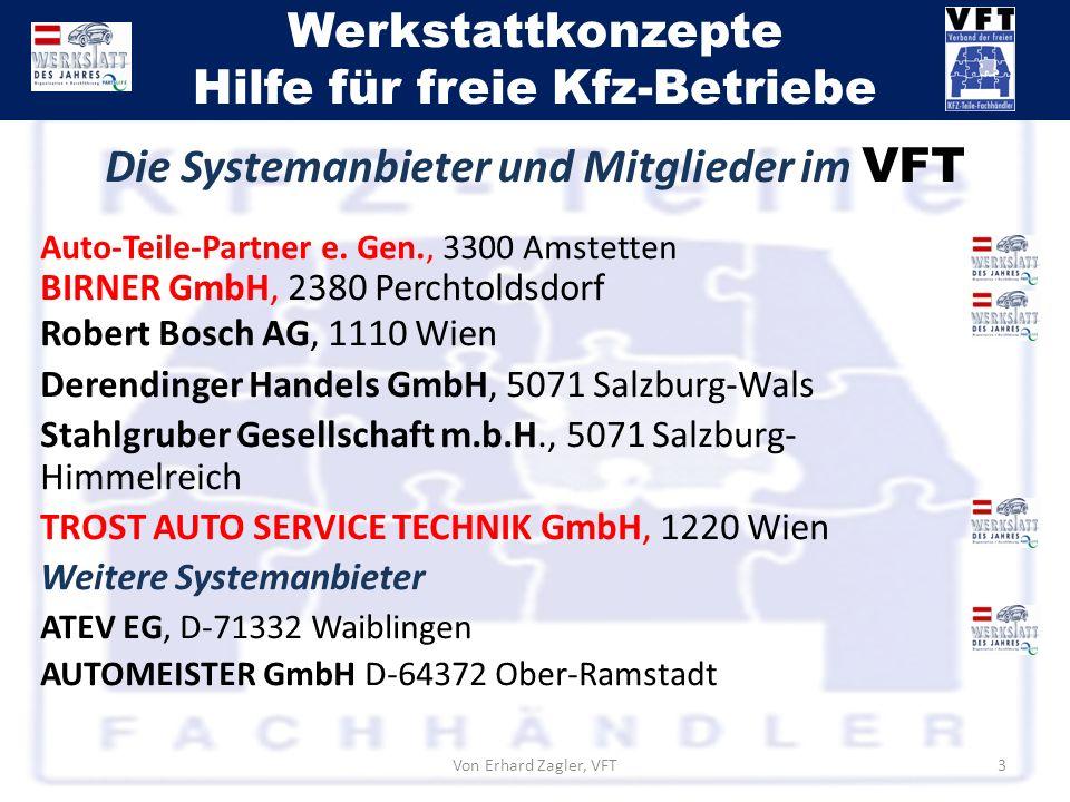 Die Systemanbieter und Mitglieder im VFT