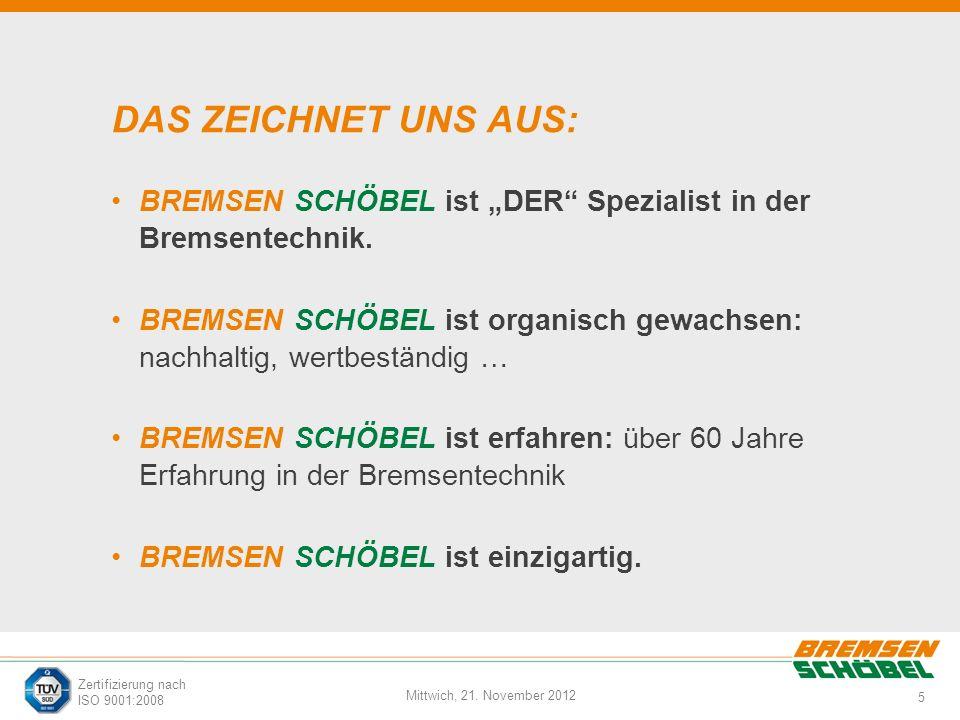 """DAS ZEICHNET UNS AUS: BREMSEN SCHÖBEL ist """"DER Spezialist in der Bremsentechnik."""