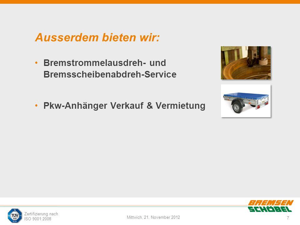 Ausserdem bieten wir: Bremstrommelausdreh- und Bremsscheibenabdreh-Service.