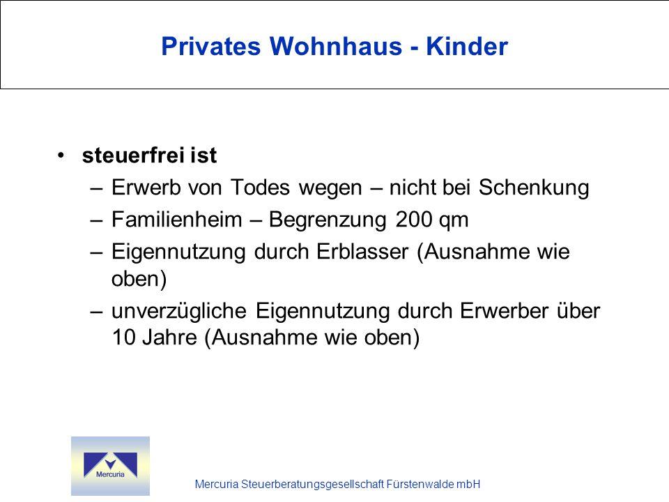 Privates Wohnhaus - Kinder