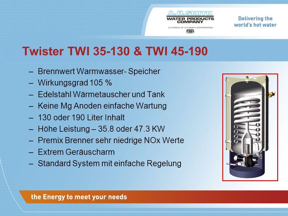 Twister TWI 35-130 & TWI 45-190 Brennwert Warmwasser- Speicher