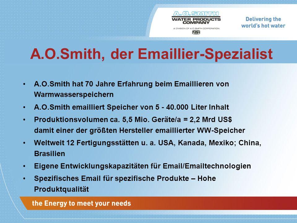 A.O.Smith, der Emaillier-Spezialist