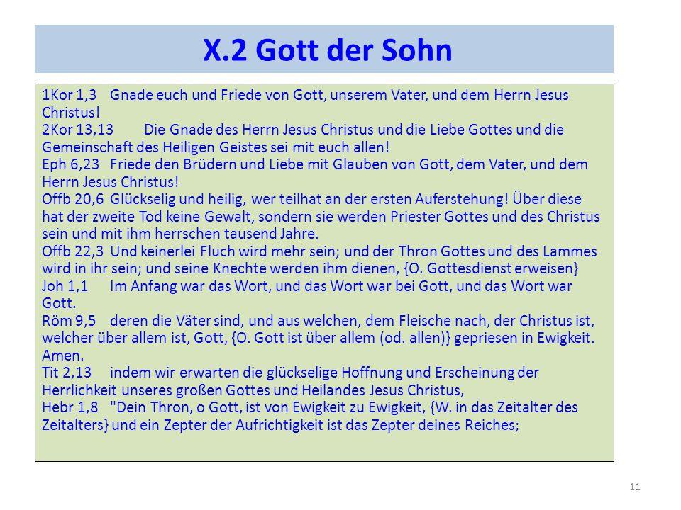 X.2 Gott der Sohn