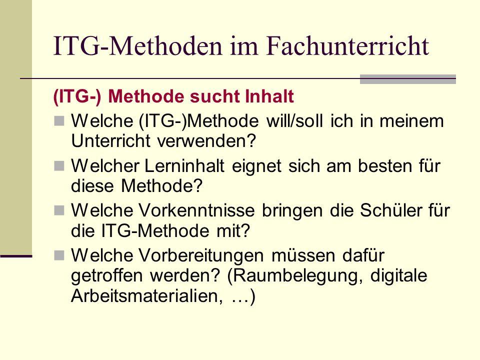 ITG-Methoden im Fachunterricht