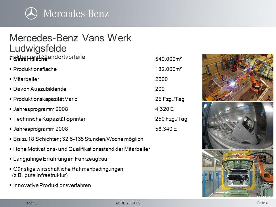 Mercedes-Benz Vans Werk Ludwigsfelde Fakten und Standortvorteile