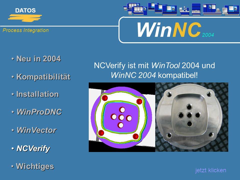 NCVerify ist mit WinTool 2004 und WinNC 2004 kompatibel!